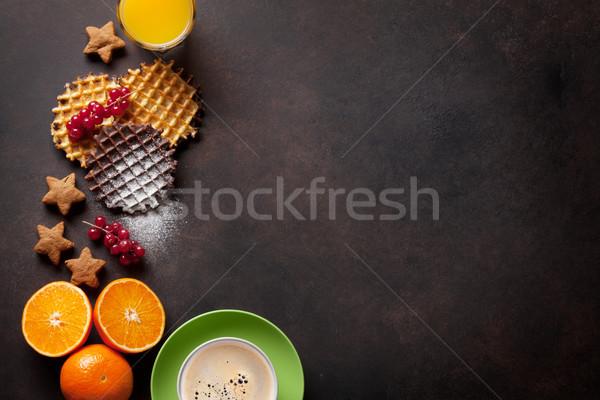Café suco topo ver cópia espaço Foto stock © karandaev