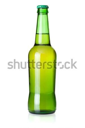 Zdjęcia stock: Piwa · kolekcja · zielone · odizolowany