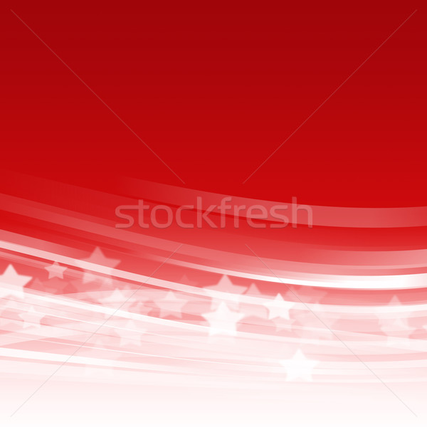 Stock photo: Abstract red wave background