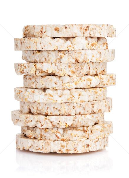 Foto stock: Dieta · alimentos · aislado · blanco · comer · estudio