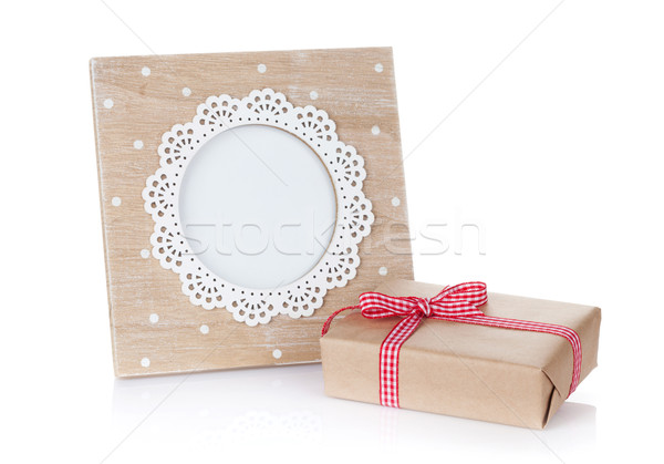 Photo frame and gift box Stock photo © karandaev
