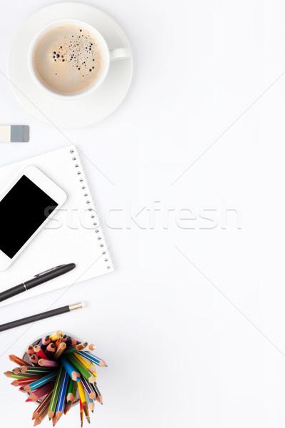 таблице чашку кофе Top мнение Сток-фото © karandaev