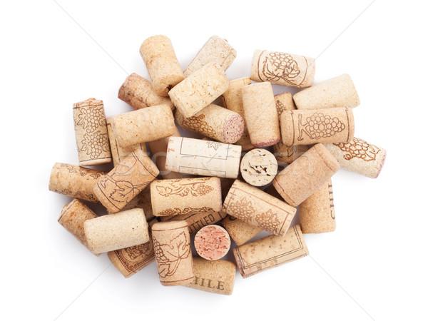Wina odizolowany biały tle grupy Zdjęcia stock © karandaev