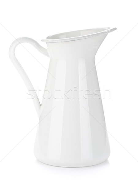 White metal milk pitcher Stock photo © karandaev