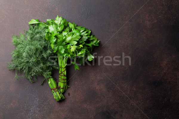 Dill and parsley. Herbs and spices Stock photo © karandaev