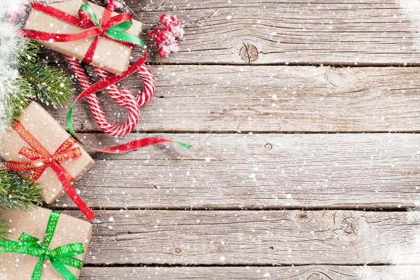 Stock fotó: Karácsony · ajándék · doboz · cukorka · sétapálca · fenyőfa · ajándékdobozok