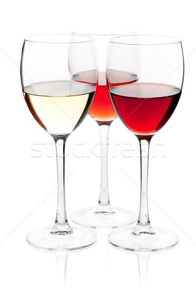 White, rose and red wine Stock photo © karandaev