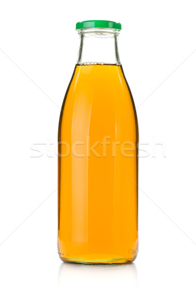リンゴジュース ガラス ボトル 孤立した 白 食品 ストックフォト © karandaev