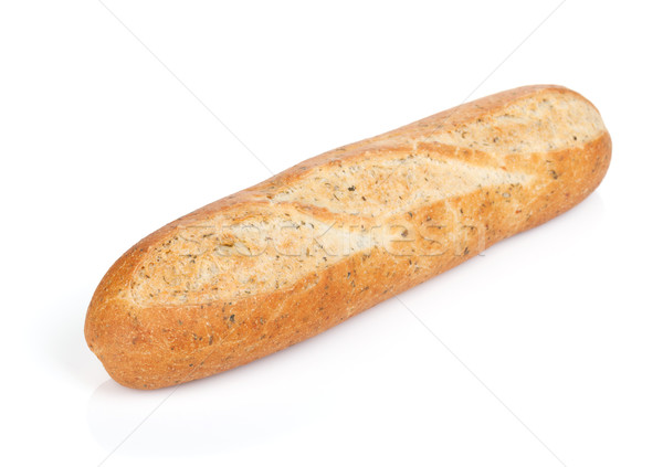 Foto stock: Francés · baguette · aislado · blanco · trigo · desayuno