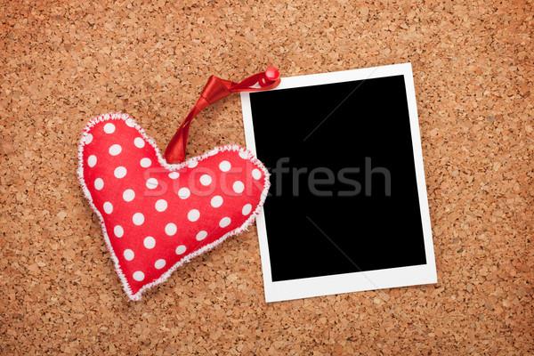 Foto stock: Foto · vermelho · coração · cortiça