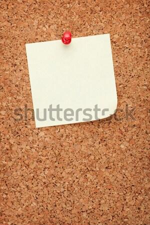 Blank postit note on cork notice board Stock photo © karandaev