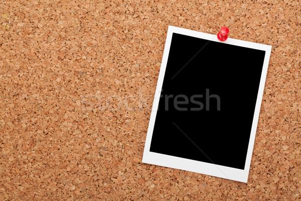 Immediato photo frame sughero legno copia spazio business Foto d'archivio © karandaev