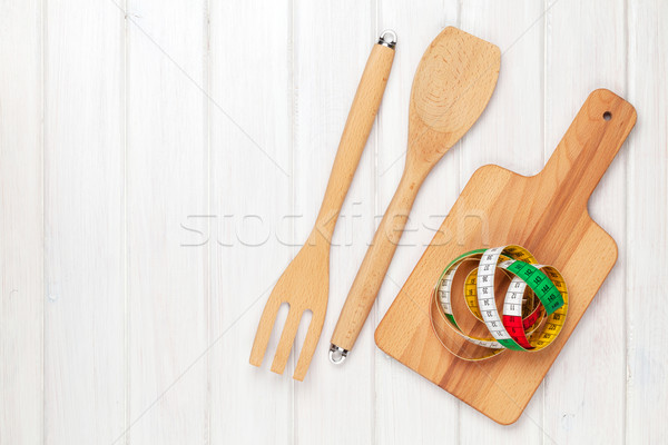 Healthy food and kitchen utensils Stock photo © karandaev