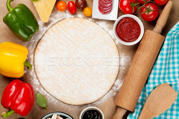 Pizza cooking ingredients Stock photo © karandaev