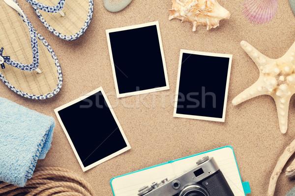 旅行 休暇 写真 フレーム 海 砂 ストックフォト © karandaev