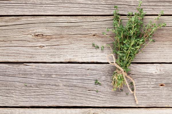 Bunch of garden thyme herb Stock photo © karandaev