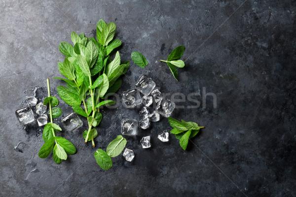 De gelo pedra tabela topo ver Foto stock © karandaev
