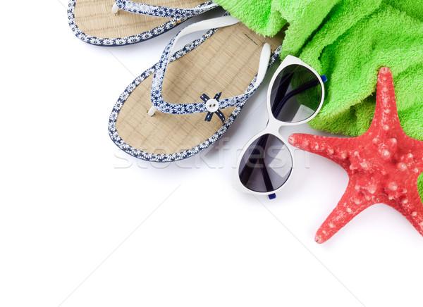 Ręcznik okulary Rozgwiazda plaży Zdjęcia stock © karandaev