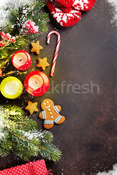 Xmas greeting card Stock photo © karandaev