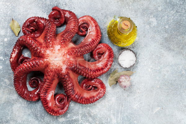 Raw octopus cooking Stock photo © karandaev