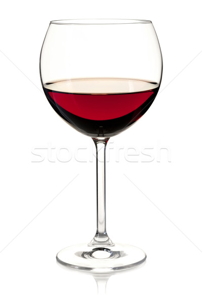 Wine collection - Red wine in glass Stock photo © karandaev
