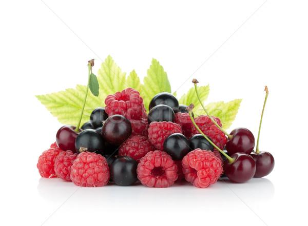 Black currant, raspberry and cherry Stock photo © karandaev