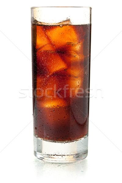 Cola glas geïsoleerd witte drinken Rood Stockfoto © karandaev