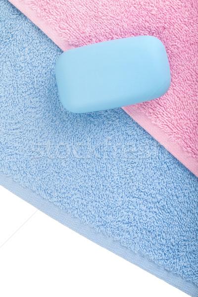 Stockfoto: Zeep · handdoeken · schoonheid · groep · ontspannen