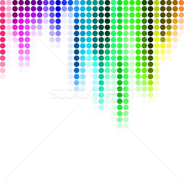 аннотация Пиксели мозаика градиент красочный бизнеса Сток-фото © karandaev