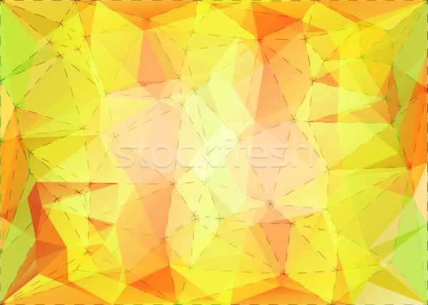 аннотация треугольник мозаика пунктирный линия структуры Сток-фото © karandaev