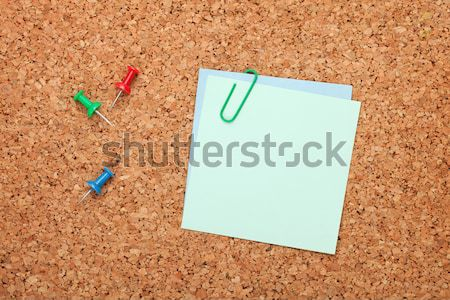 Blank postit note on cork notice board Stock photo © karandaev