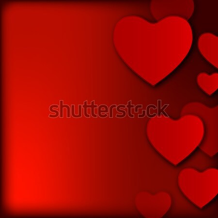 Valentine's day background with hearts Stock photo © karandaev