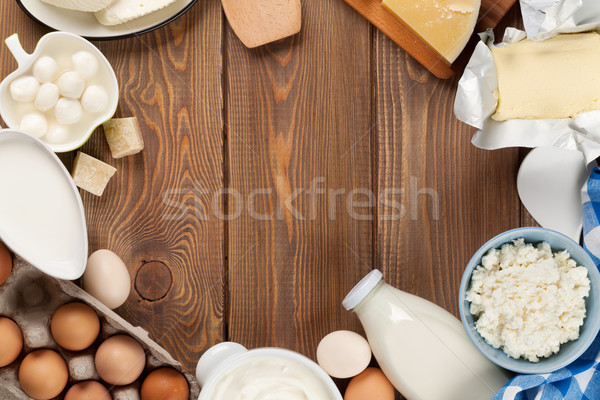 Ekşi krema süt peynir yumurta yoğurt Stok fotoğraf © karandaev
