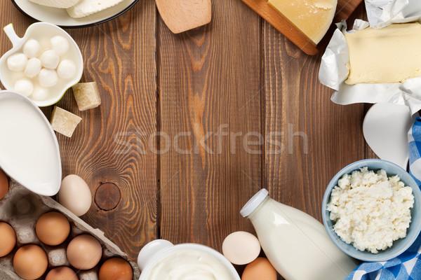 сметана молоко сыра яйцо йогурт Сток-фото © karandaev