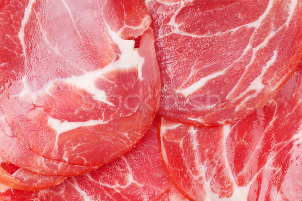 Prosciutto texture Stock photo © karandaev