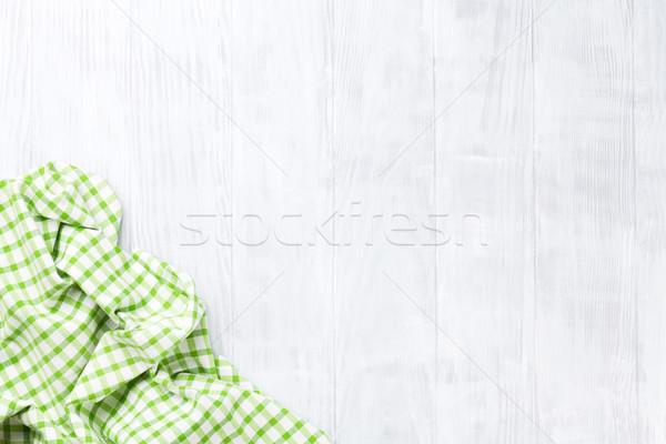 Stock fotó: Konyhaasztal · törölköző · felső · kilátás · copy · space · otthon