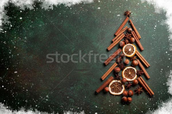 Anis cannelle noël arbre orange écrou Photo stock © karandaev