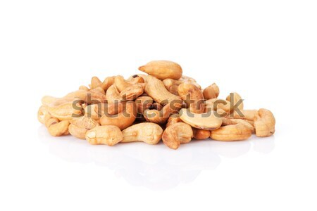 Foto stock: Anacardo · nueces · aislado · blanco · fondo · semillas