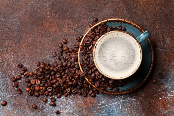 Coffee cup and roasted beans Stock photo © karandaev