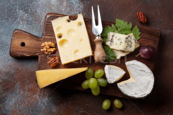 сыра совета виноград орехи вино Top Сток-фото © karandaev