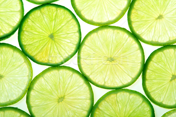 Green lime slices background Stock photo © karandaev