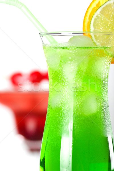 Green and red tropical cocktails Stock photo © karandaev