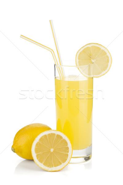 Limone succo vetro fresche limoni isolato Foto d'archivio © karandaev