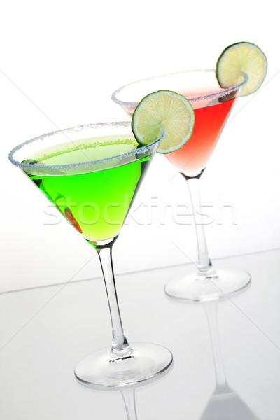 Iki alkol kokteyller kokteyl toplama kozmopolit Stok fotoğraf © karandaev