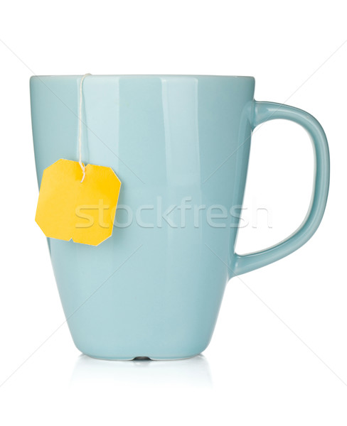 Tea cup with teabag Stock photo © karandaev