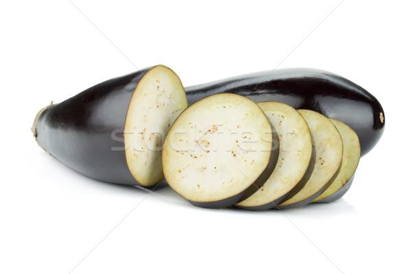 Melanzane isolato bianco alimentare sfondo Foto d'archivio © karandaev