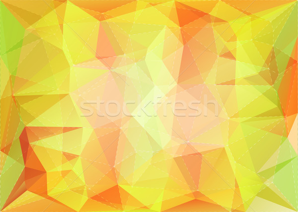 Abstract triangle mosaic background with dotted line structure Stock photo © karandaev
