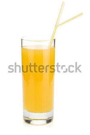 ананаса сока стекла питьевой изолированный белый Сток-фото © karandaev