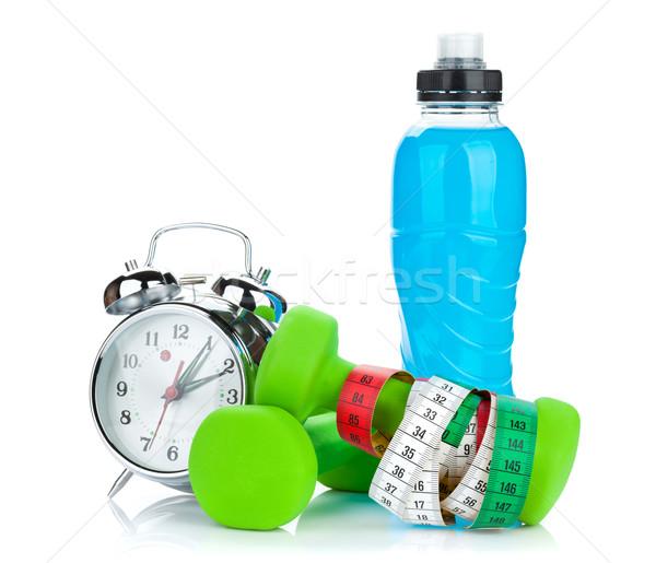 два зеленый рулетка пить бутылку будильник Сток-фото © karandaev