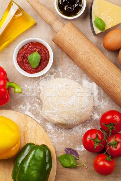 Pizza cooking ingredients Stock photo © karandaev
